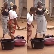 Old Benin woman breaks bottle in attempt to threaten another woman during confrontation - see video