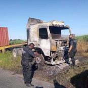 Hijacked Truck Guttered In Fire: Inanda - KZN