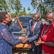 Just In: Dp Ruto's Wife Gifts Her Primary Teacher With New Vehicle