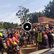 So Sad, A 'Bodaboda' Thug Lynched Badly By An Angry Mob In Kitale