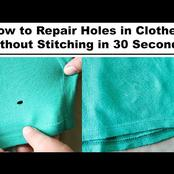 Here Is How To Repair Holes In Clothes (Without Stitching) in 30 Seconds - Find Out Now
