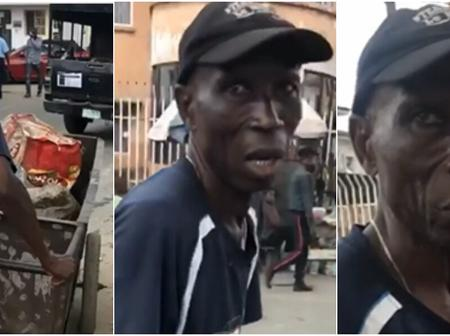 See what an Ex-councillor under Ibrahim Babangida regime was found doing for a living in Lagos