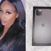 See What This Lady Found Inside An iPhone 11 Pro Max Her Boyfriend Sent On Her Birthday (photos)