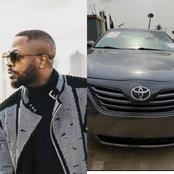 Tunde Ednut gives his fan a car gift