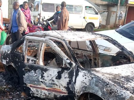 Sad as residents wake up to a burned vehicle
