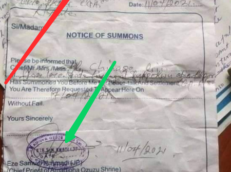 Reactions As Nigeria Man Cries For Help After Allegedly Receiving Letter Of Summon From A Shrine