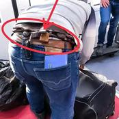 See What Was Seen In This Yoruba Man's Waist At The Airport, That Stirred Reactions Online (Photos)