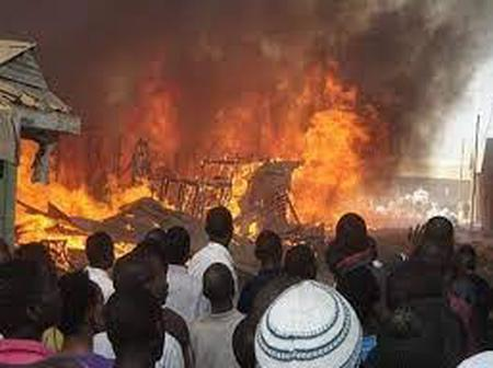 Fire outbreak renders 40 Homeless, No one died.
