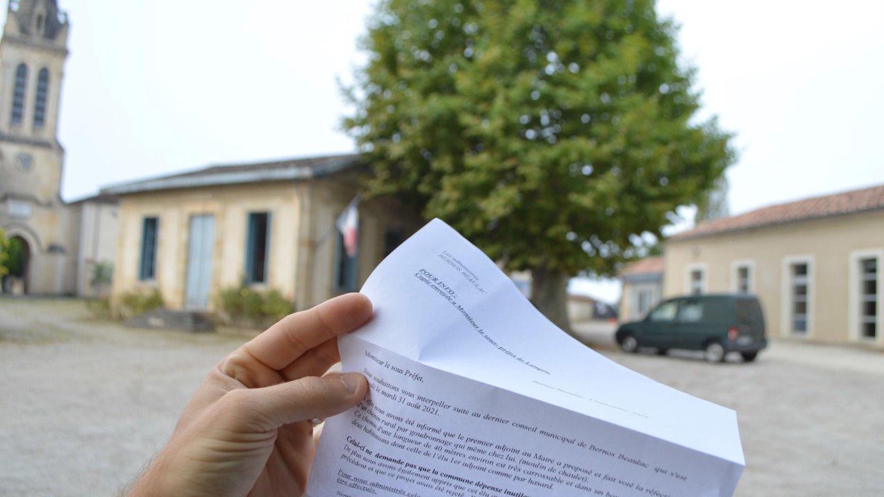 Bernos-Beaulac : des zones d'ombre autour d'un brûlant courrier anonyme