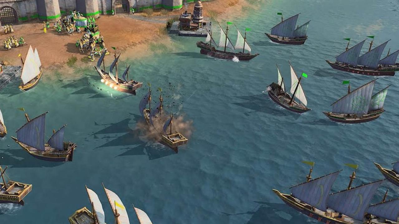 """""""Age of Empires 4"""": So spielen sich Seeschlachten"""