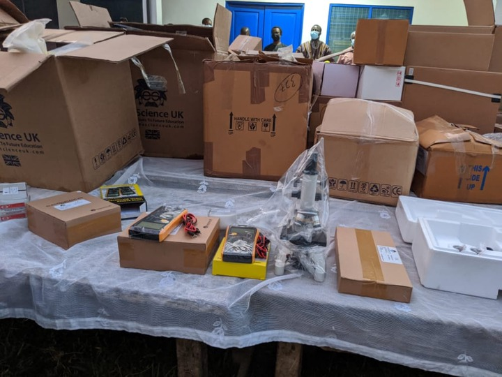 Deputy Minister of education donates science laboratory equipment to a Senior High Schools in Assin North and South (Fosu)