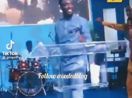 Youth Pastor Caught On Camera Displaying His Dance Moves On The Altar