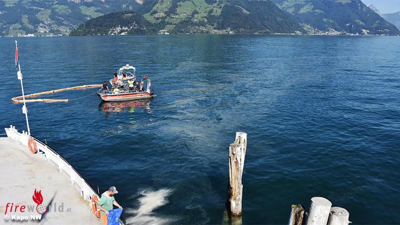 Schweiz: 1 km Ölteppich nach Betanken einer Fähre auf Vierwaldstättersee bei Beckenried