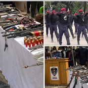 Photos Of Sophisticated Weapons Allegedly Recovered From ESN Members In Orlu, Imo State