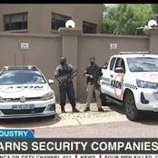 Police send a warning to security companies