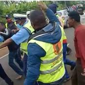 Police Rescue a Driver From Angry Riders After Knocking Down One Rider to Death