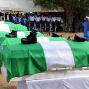 The Nigerian Air Force Buries Officers Involved In Plane Crash, Check Photos