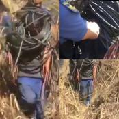 Watch : Police Apprehend Copper Cable Suspects With More Than R30 000 Worth Of Copper.