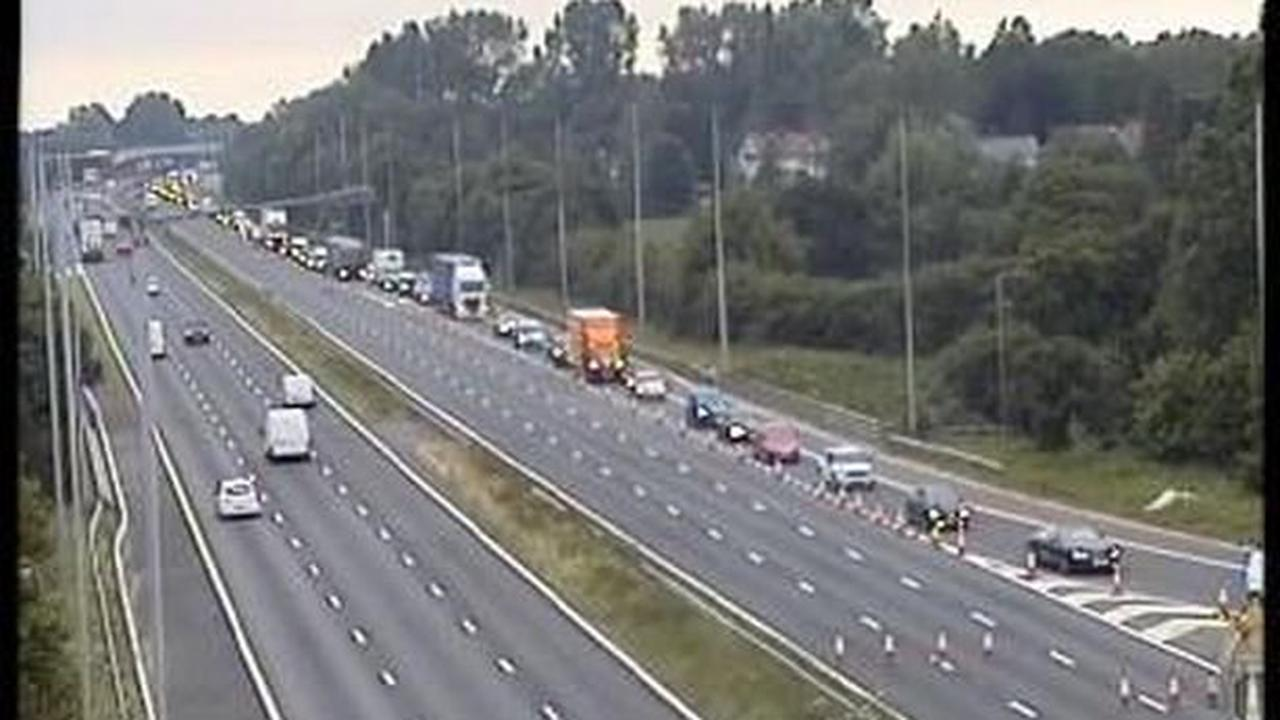 Driver dies after three lorries crash on M6