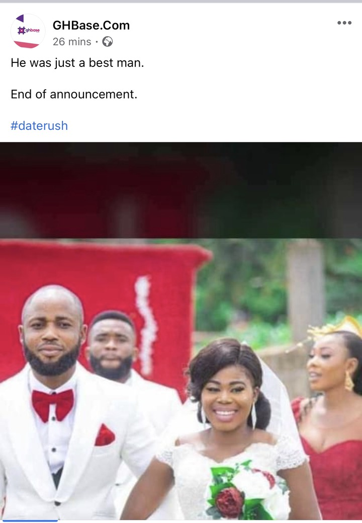 c8ca349d02a4443d93609af3b65695af?quality=uhq&resize=720 - He Was Just A Best Man - Ernest Of Date Rush Vindicated After Wedding Photos Of Him Surfaced Online