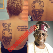 Lady Tattoos Tinubu's Face On Her Body, See Reactions
