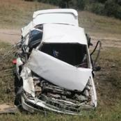 Family of Three, Among them a 1-Year-old Child Escape Death by a Whisker in a Road Accident.