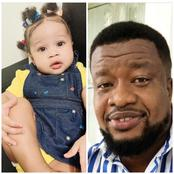 Browny Igboegwu Shows Off His Daughter Wearing Beautiful Sneakers (Photos)