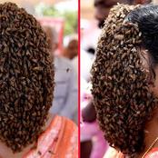 Meet Jisha, The Woman Who Covered Her Face With Bees To Create Awareness (Video)