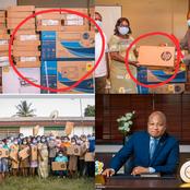 See The Laptops Hon. Okudzeto Ablakwa And His Team Donated To The North Tongu Health Directorate