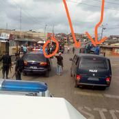 """""""Are they back on our streets?"""" See what these officers are spotted with today at Merian Lagos"""