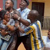 Photos of Odunlade Adekola, Mr Latin, Baba Ijesha, others on the set of 'Igi Aje'