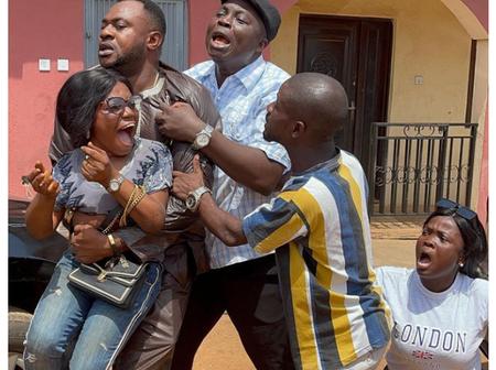 Photos of Odunlade Adekola, Mr Latin, Baba Ijesha, others on the set of 'Igi Aje'