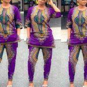 African Fashion and Style: Elegant African Print Trousers with Top Sets for Ladies