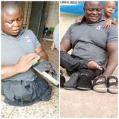 Meet Abraham, A Disabled Man Who Manufactures Shoes And Sells Them To Feed His Family (Video)