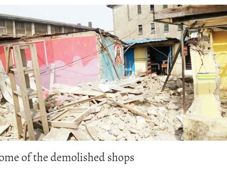 Mother Of Three Faints After Her Shop Was Demolished With The Goods Still Inside