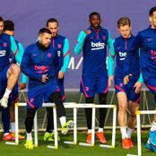 Barca players undergo final training for tomorrow's clash (See photos)