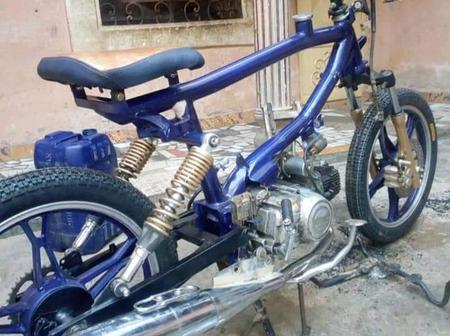 'Where's The Fuel Tank' Man Asks As Photos Of Motorcycle Made By Nigerian Man Emerges