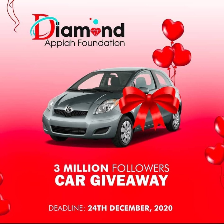 Diamond Appiah Set To Give One Lucky Fan A Toyota Echo Car to Start Uber Business 2
