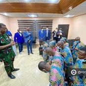 Photos of Adeboye during his visit to Kaduna State to meet Redeemed members freed by kidnappers
