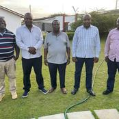 Francis Atwoli Receives Special Guests at his Kajiado Home Among Them Newly Elected MP