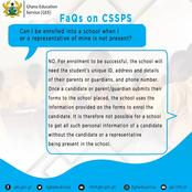 Ghana Education Service: All you Need to Know about CSSPS