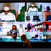 PHOTOS: President Buhari presides over the virtual meeting of the Federal Executive Council (FEC)