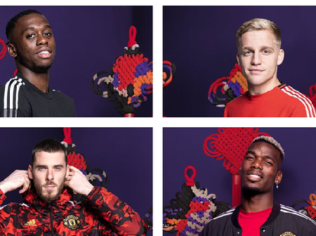 Pogba, De Beek and De Gea model Man United new kits inspired by Chinese new Year(Photo)