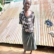 PHOTOS: Sad Story Of Poor Widow From Akwa Ibom Whose House Was Pulled Down By Wind