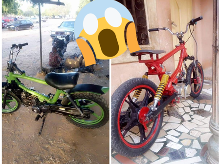 Checkout The Motorcycles That Were Made By An Uneducated Man In Katsina (Photos)