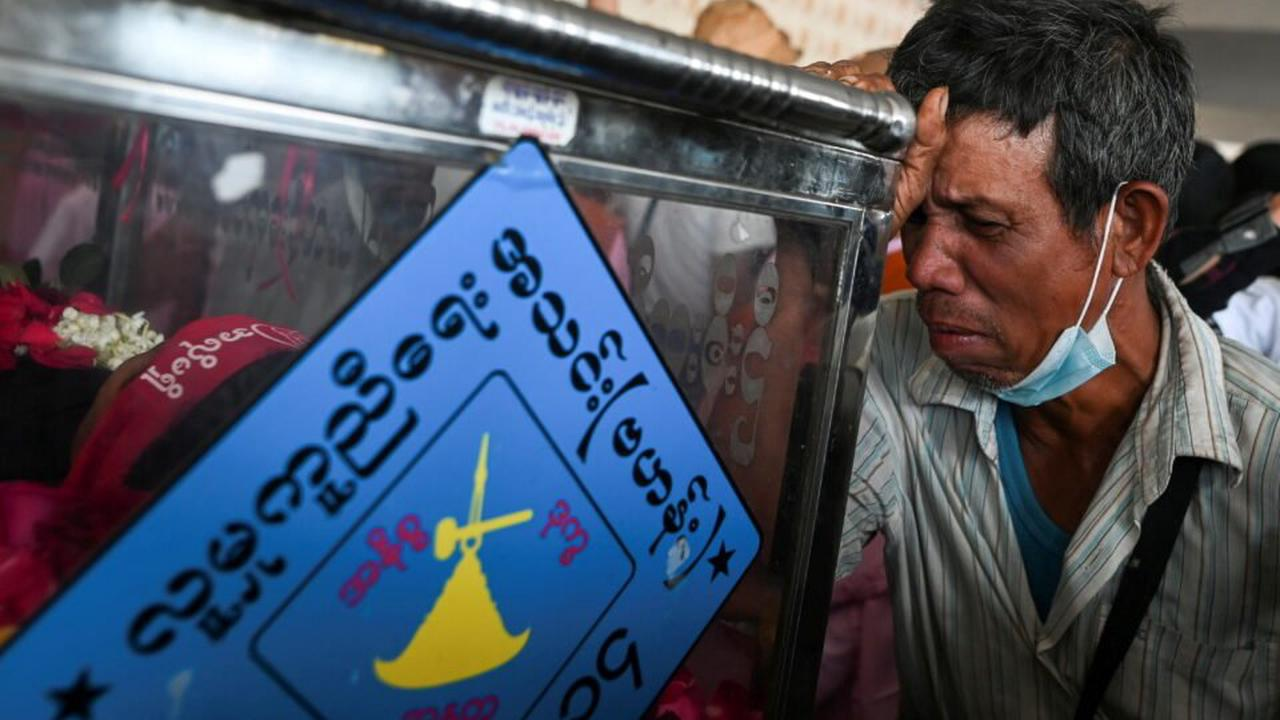 Myanmar forces fire stun grenades on protest as UN envoy calls for action