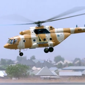 The Nigerian Air Force Mil Mi-17 military transport helicopter.