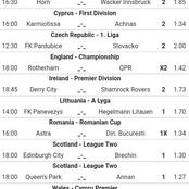 Eleven(11)Football Picks To Place On Today 13th April