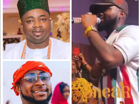 The Moment Davido Prostrated For Oba Elegushi While Performing At His 45th Birthday Party (Video)