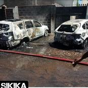 Dramatic Scenes After Two Vehicles Mysteriously Burn To Ashes In Nairobi